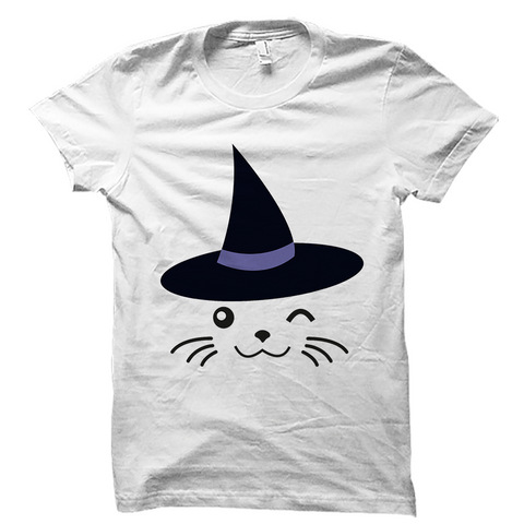 Cat Witch Halloween Shirt