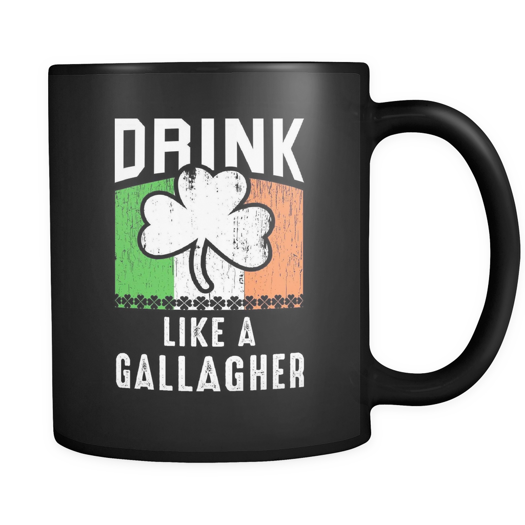 Drink Like A Gallagher Mug for Irish St Patrick's Day