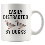 Easily Distracted By Ducks 11oz White Mug