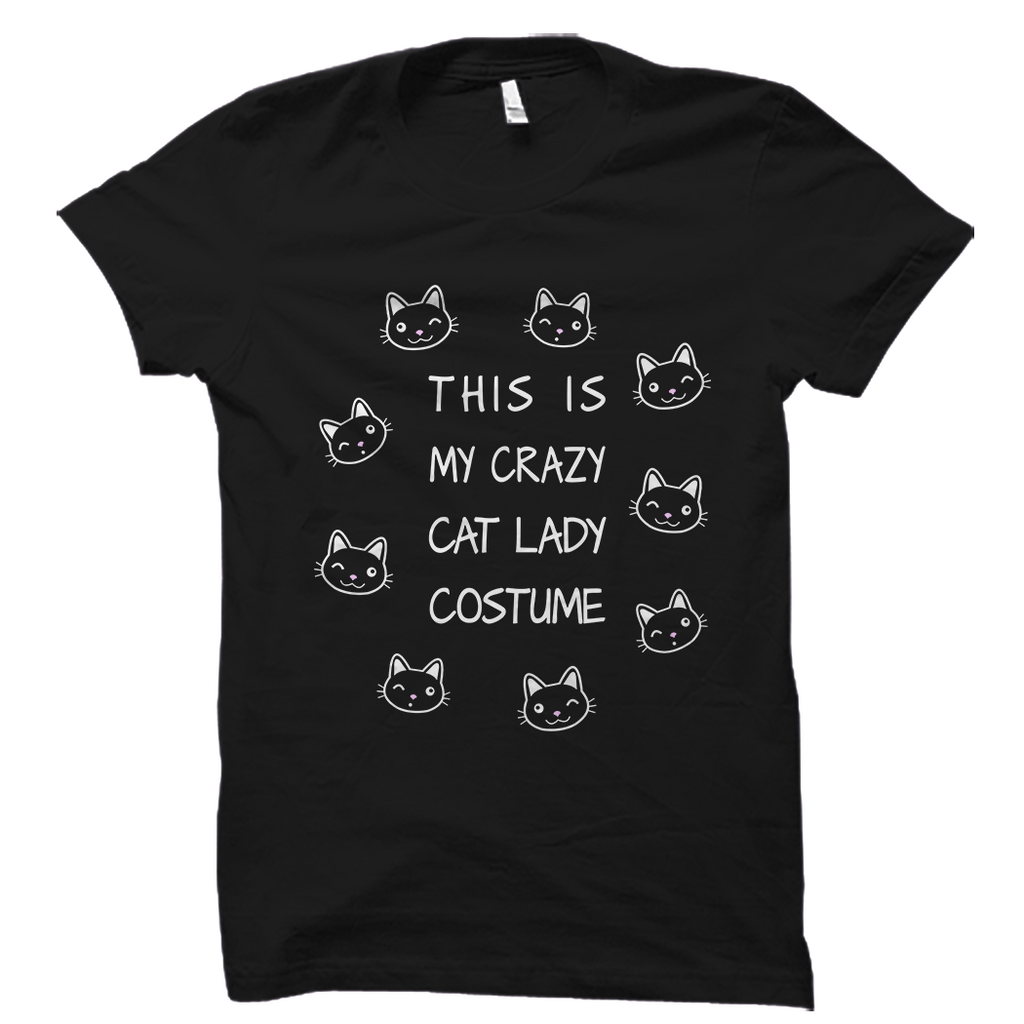 This Is My Crazy Cat Lady Costume Halloween Shirt