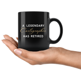 A Legendary Cartographer Has Retired 11oz Black Mug