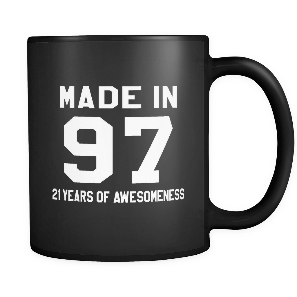 Made In 97 Black Mug