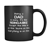 Being A Dad Black Mug