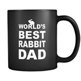 Rabbit Dad Black Mug