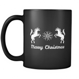 Merry Christmas Unicorn Black Mug