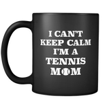 Tennis Mom Black Mug