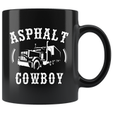 Asphalt Cowboy 11oz Black Trucker Coffee Mug