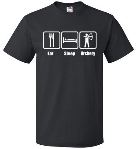 Eat Sleep Archery Shirt Funny Archer Bow Arrow Tee - oTZI Shirts - 1