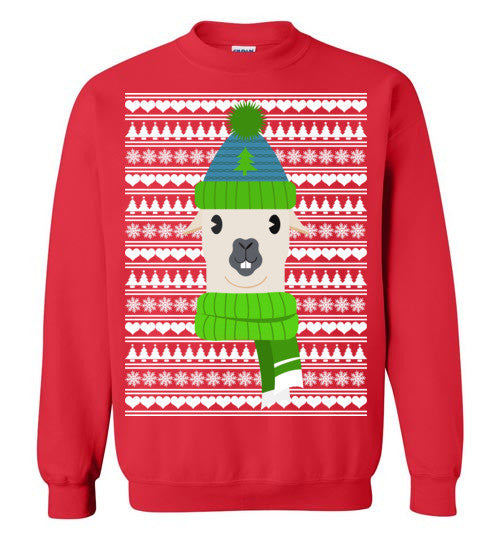 Ugly Christmas Sweater Funny.Ugly Christmas Sweater Funny Lama Motif