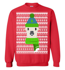 Ugly Christmas Sweater - Funny Lama Motif