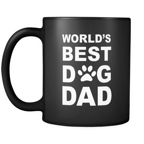 World's Best Dog Dad Black Mug