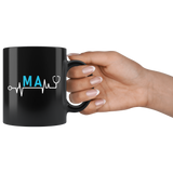 MA Heartbeat 11oz Black Mug