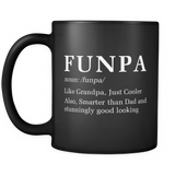 Funpa Like Grandpa, Just Cooler Black Mug