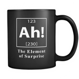 Ah! The Element Of Surprise Black Mug