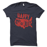Happy 4th Of July Black Shirt