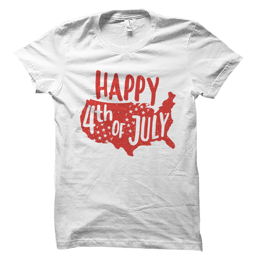 Happy 4th Of July White Shirt