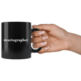 #Cartographer 11oz Black Mug