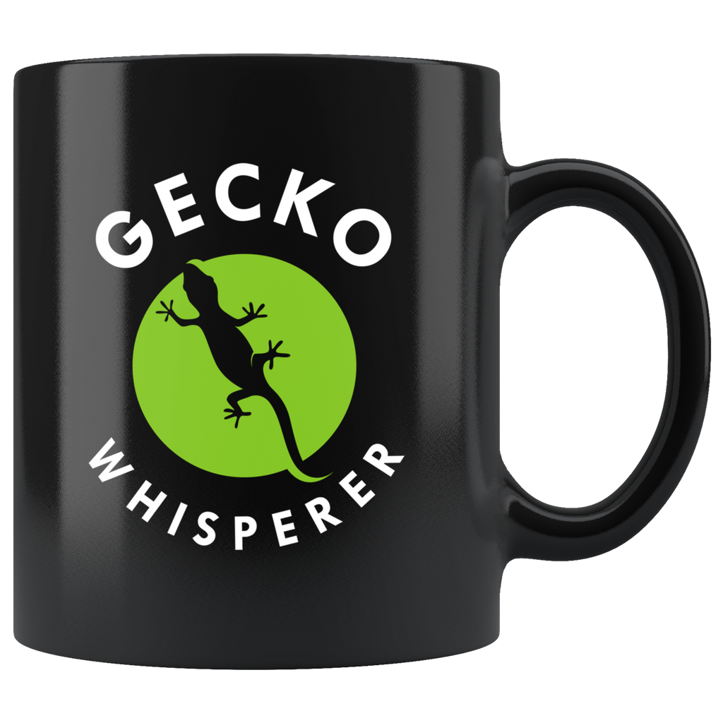 Gecko Whisperer 11oz Black Mug