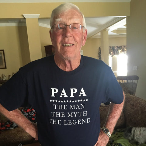 Papa - The Man The Myth The Legend T-Shirt - oTZI Shirts - 1