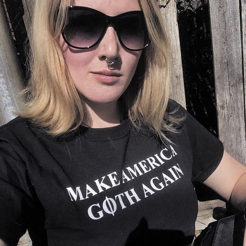 Make America Goth Again Shirt Cool Gothic Tee