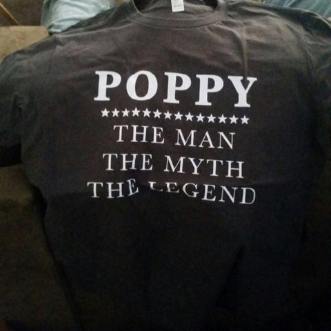 Poppy - The Man The Myth The Legend T-Shirt - oTZI Shirts - 1