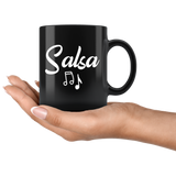 Salsa 11oz Black Mug