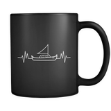 Boat Heartbeat Mug in Black