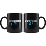 #EntrepreneurLife 11oz Black Mug