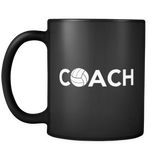 Volleyball Coach Black Mug