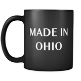 Made in Ohio Black Mug