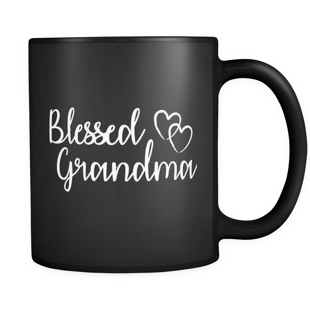Blessed Grandma Black Mug