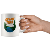 On Lake Time 11oz White Mug