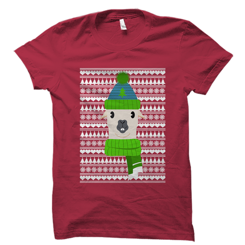 Ugly Christmas T-Shirt - Lama Motif