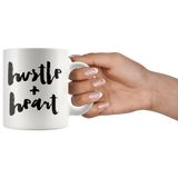 Hustle + Heart White Mug