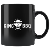 King Of Bbq 11oz Black Mug