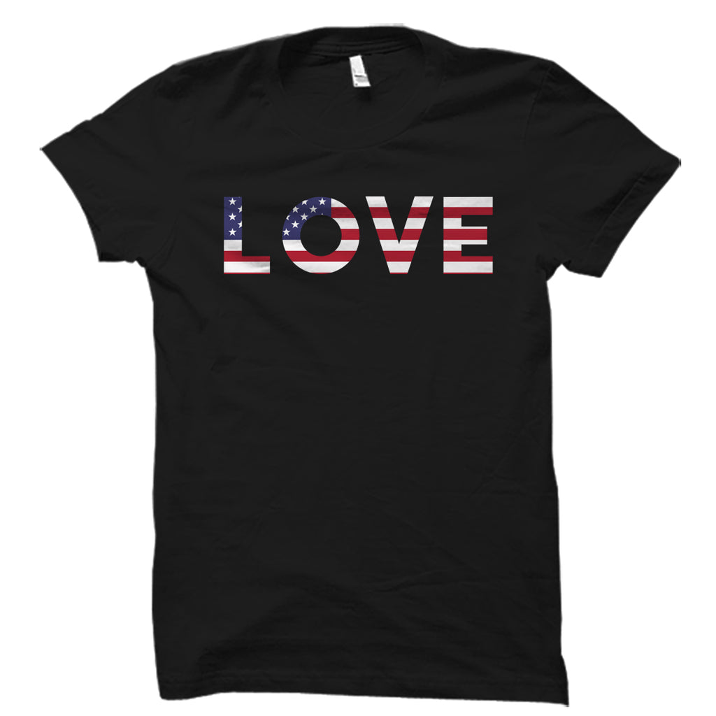 Love American Flag Shirt