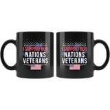 I Support Our Nations Veteran 11oz Black Mug