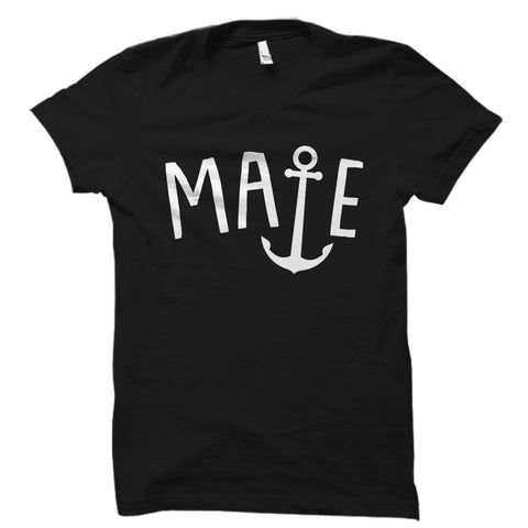 Bridesmaid Mate Anchor Design Shirt