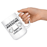 Awesome Poppy 15oz White Mug