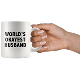 World's Okayest Husband White Mug