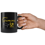 Gemini 11oz Black Mug