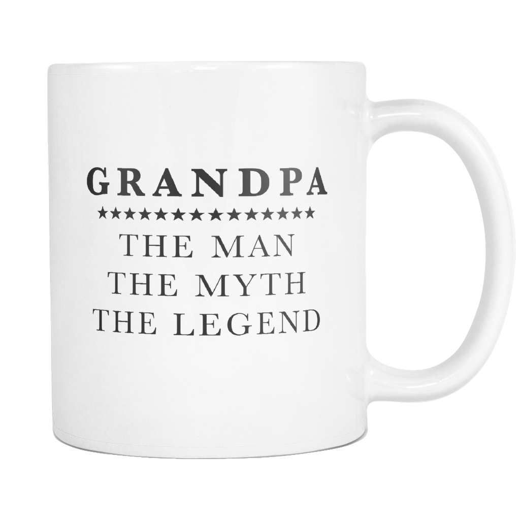 Grandpa The Man The Myth The Legend White Mug