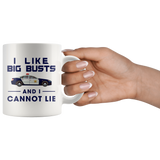 I Like Big Busts And I Cannot Lie 11oz White Mug