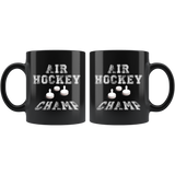Air Hockey Champ 11oz Black Mug