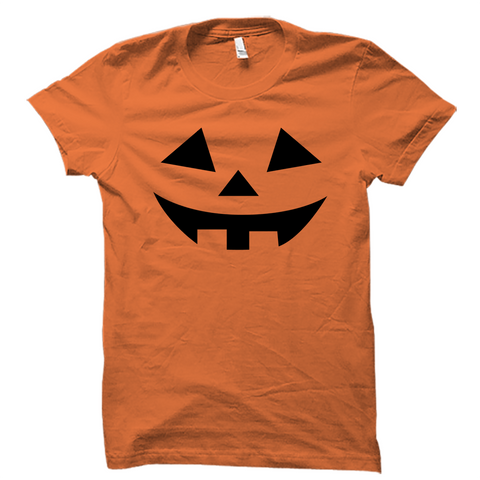 Scary Carved Pumpkin Halloween Shirt