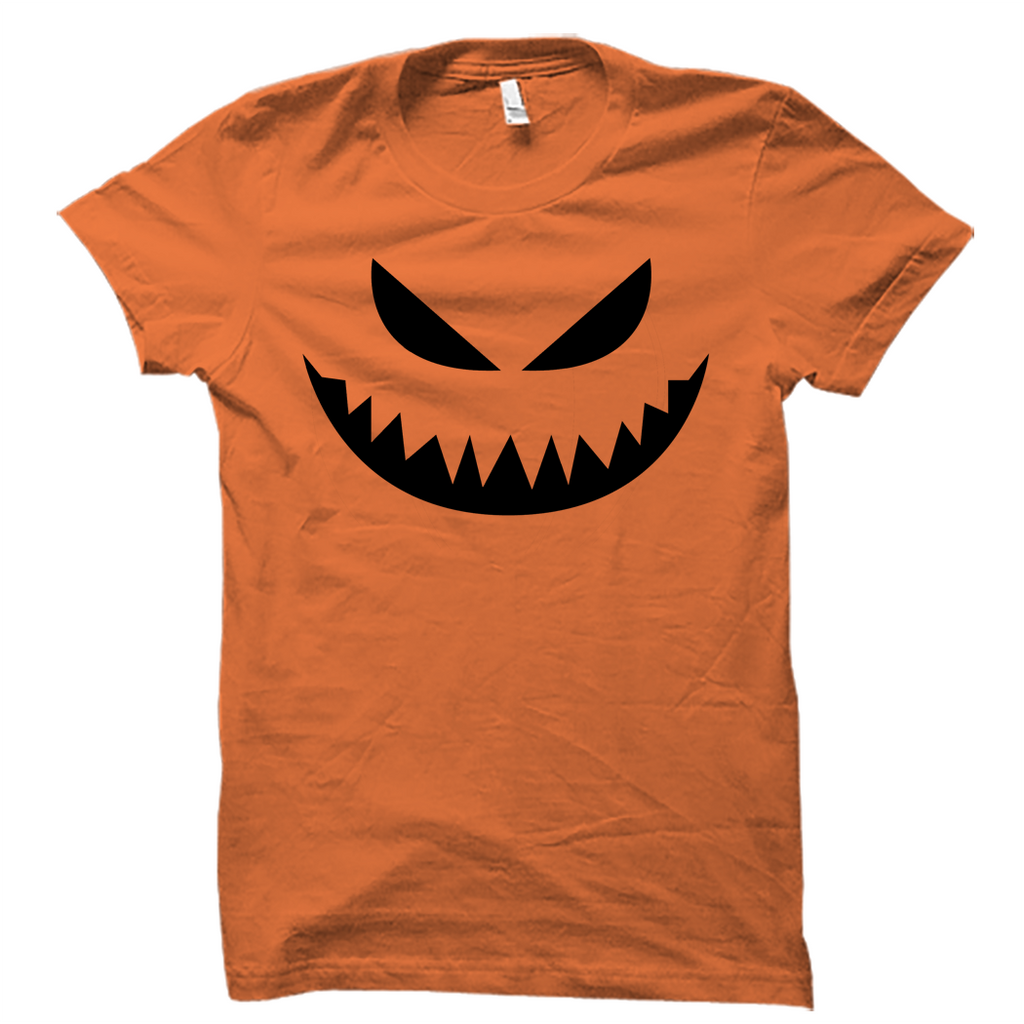 Creepy Carved Pumpkin Halloween Shirt