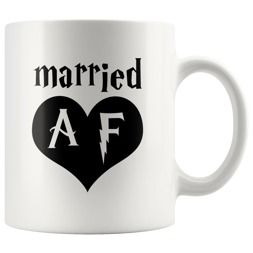 Married AF White Mug