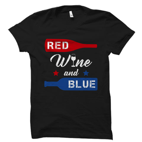 Red Wine And Blue Black Shirt