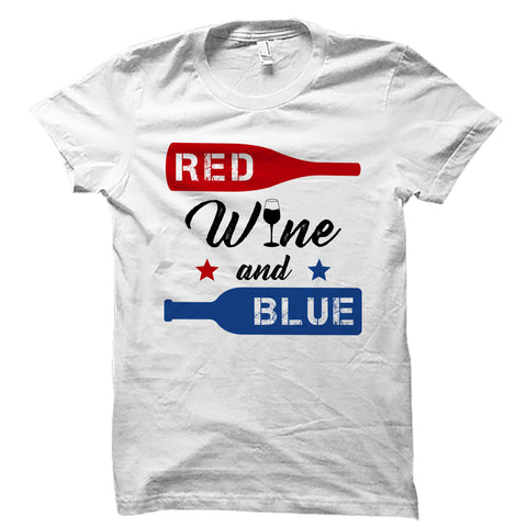 Red Wine And Blue White Shirt