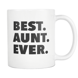 Best Aunt Ever White Mug